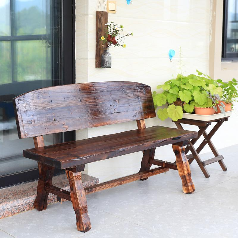 Red Oak Kitchen Table, Solid Wood Park Bench Courtyard Anticorrosive Wood Back Park Chair Outdoor Bench Balcony Leisure Bench Aliexpress