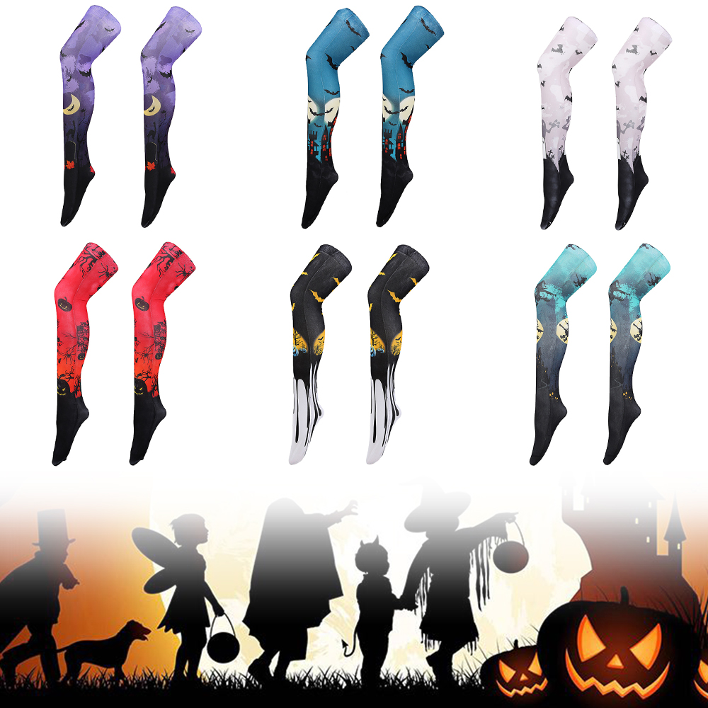 Halloween Dark Long Knee High Socks Costume Masquerade Carnival Cosplay Soft Stockings Carnival Fancy Dress Party Gift D35
