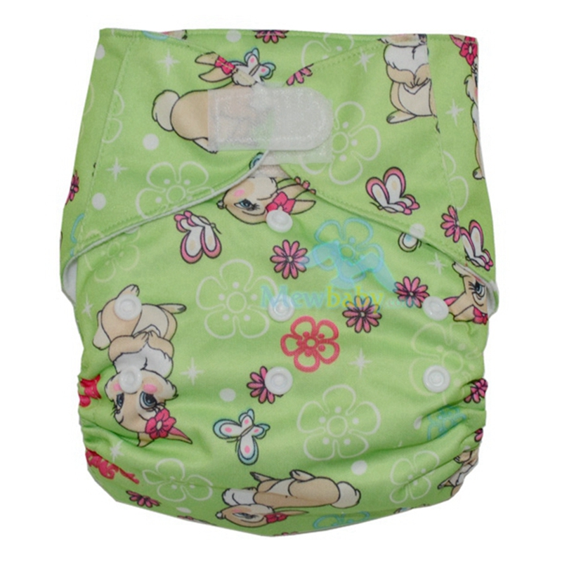 Printed Pocket Diapers One Size Fits All Cloth Diaper With 1 Pieces 3-layer Microfiber Insert GT28