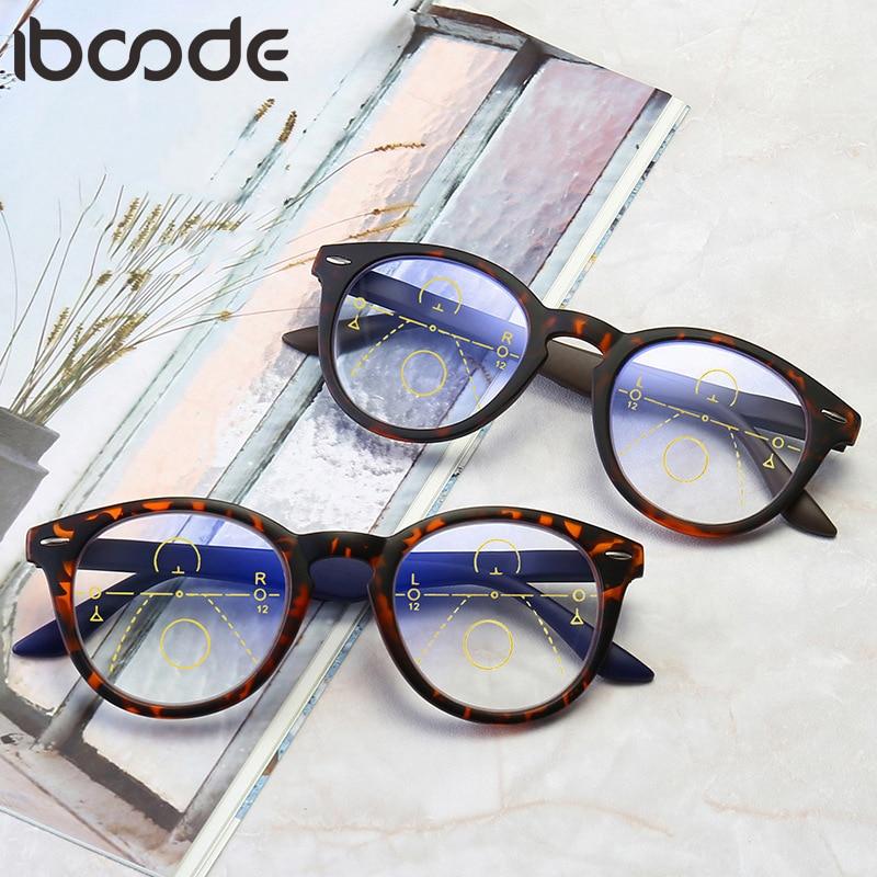 Iboode Anti Blue Light Progressive Multifocal Reading Glasses Men Women Presbyopic Eyeglasses Near Far Sight Diopter Eyewear New