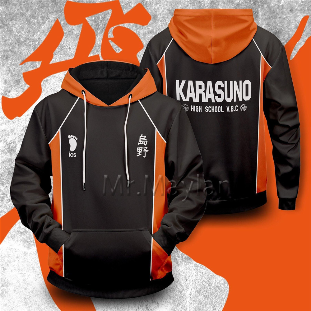 3D Print Haikyuu Karasuno Harajuku Anime Hoodies Men/Women Casual Cosplay Unisex Sweatshirts  Streetwear Clothes Oversized Tops