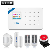 цена на KERUI W18 Wireless WiFi GSM Burglar Alarm System Home Security Alarm System Android ios APP Control with D026 Door Window Sensor