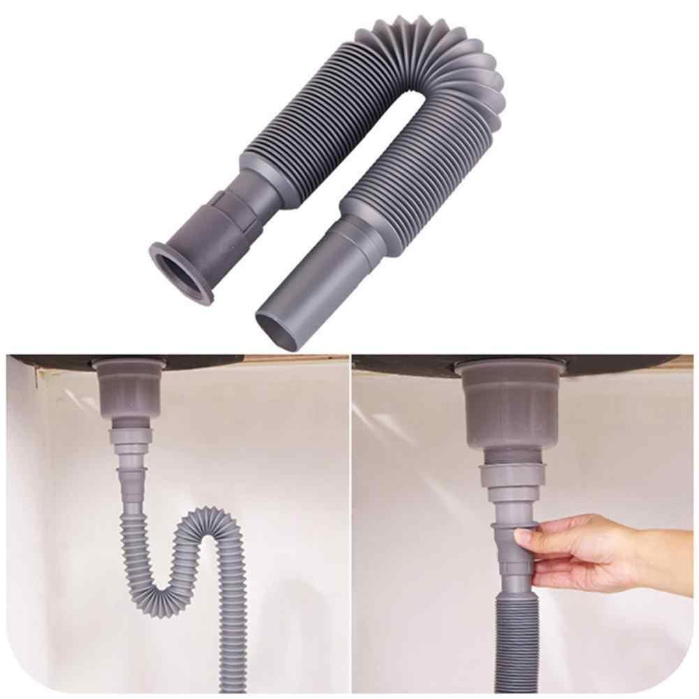 PVC Tubo di Scarico A Scomparsa Bacino Sotto Il Tubo di Acqua di Scarico Allungamento Deodorante Telescopica Lavabo Tubo di Scarico Della Cucina Rubinetto