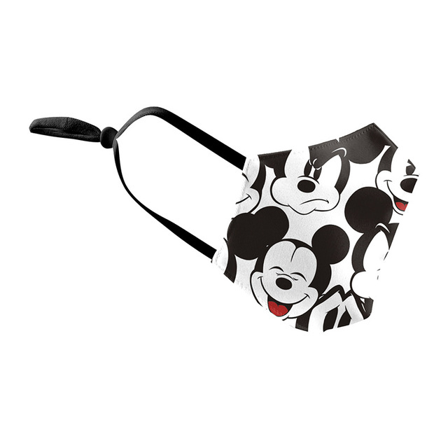 1pcs Cute Mouse Print Mask Kids Adult Washable Fabric Mask PM 2.5 Protective Reusable Dust Masks Cartoon Children Mouth-Muffle 2
