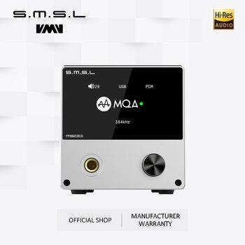 цена на SMSL M500 Headphone Amplifier & Dac Audio Decoder Supports MQA XMOS XU-216 ES9038PRO Supports DoP&Native DSD Audio Converter