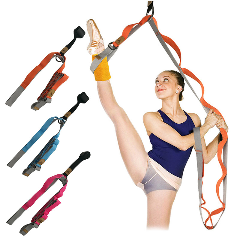 Door Flexibility Stretching Leg Stretcher Strap For Ballet Cheer Dance Gymnastics Trainer Yoga Full Splits Leg Stretch Belt Band