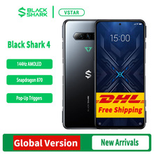 هاتف جوال للالعاب 4 5G أسود إصدار عالمي مجاني من DHL بشاشة 6.67 بوصة سناب دراغون 870 ثماني النواة كاميرا 48 ميجا بيكسل ثلاثية 4