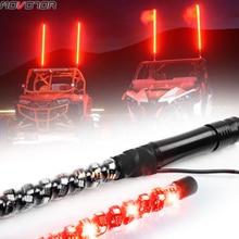 2Pcs 3FT LED Whip Light RGB Waterproof Bendable Remote Control Multi-color Super Bright Flagpole Lamp Light for SUV ATV UTV RZR