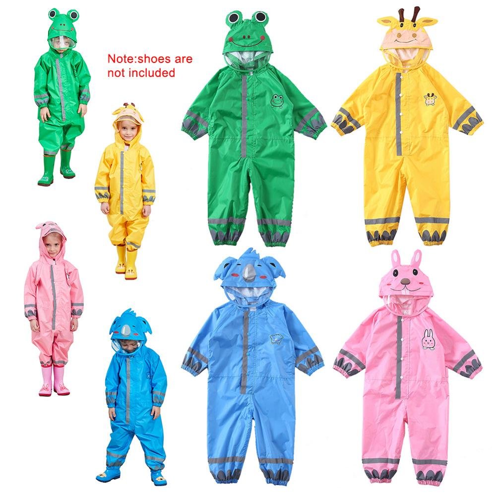 1PCS Cartoon Animal Style Waterproof Kids Raincoat For Children Rain Pants Rainwear/Rainsuit Student Poncho