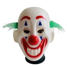 1 Pc Halloween Mask Horror Clown with Hair Face Mask Party Prop Masquerade Mask for Dance Show Halloween(China)