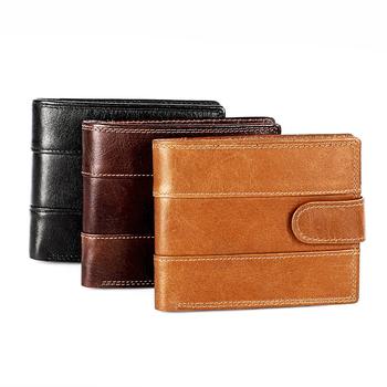 Oryginalne skórzane portfele wysokiej jakości mały męski portfel wizytownik portmonetki Vintage skórzane portfel podróżny tanie i dobre opinie macwave Prawdziwej skóry Skóra bydlęca Krótki 0 12kg Poliester genuine leather Stałe 8029 Wewnętrzna kieszeń Wnętrza przedziału