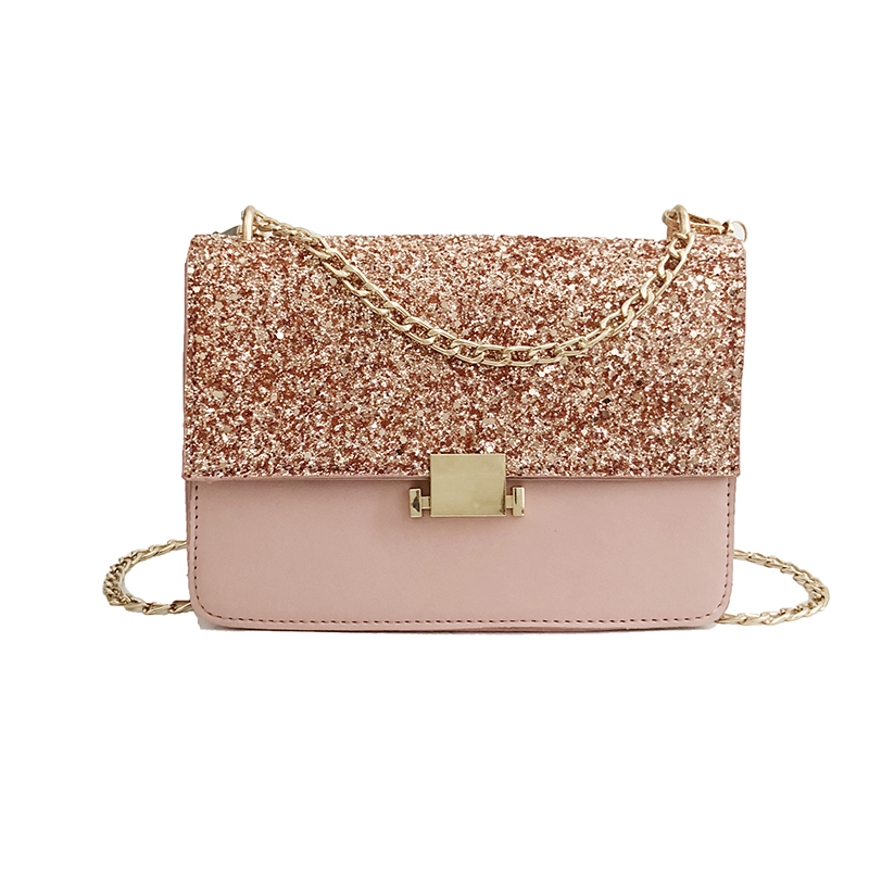 Mofft Chain-Strap Messenger-Bag Crossbody-Bags Day-Clutches Female Women Lay Sequined