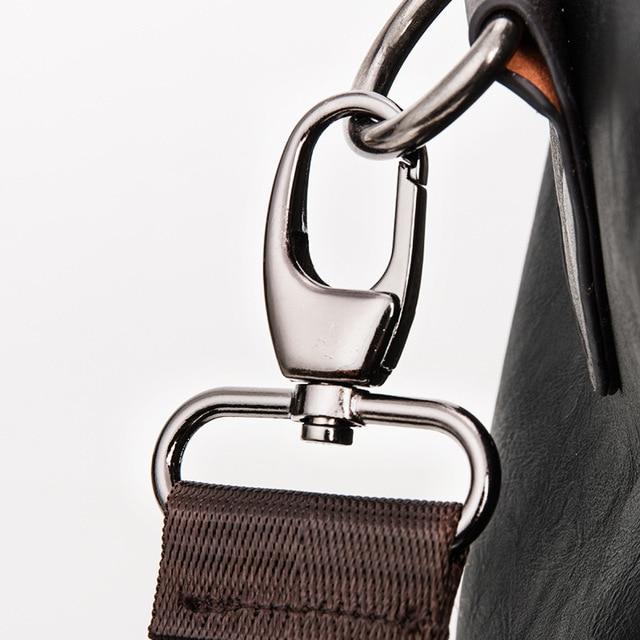 MAGIC UNION Weekender Oil Wax Leather Handbags for Men Travel Duffel Bag Portable Shoulder Bags Men's Fashion Carry On Bag 5