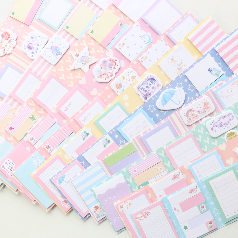 Domikee Cute Kawaiii Cartoon Twelve Constellations Pattern Korea School Student Girls Sticky Notes Pad Memo Pad Book Stationery