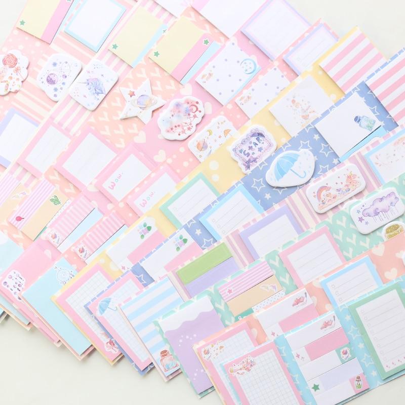 Domikee Cute Kawaiii Cartoon Twelve Constellations Pattern Korea School Student Girls Sticky Notes Pad Memo Pad Book Stationery
