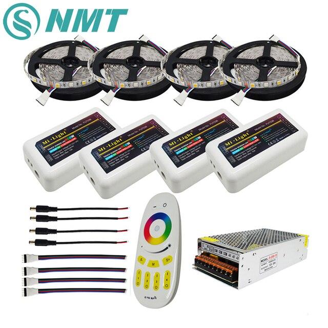 RGBW 12V HA CONDOTTO LA Striscia 5050 Impermeabile IP20/IP65 Flessibile ha condotto la Luce del Nastro + Mi Luce RF di Tocco di Telecomando + 4pcs 4 di Controllo di Zona