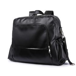 Ideal bolsa de pañales grande mochila Deluxe multifunción impermeable elegante bolso de viaje con tiras de cochecito para pañales