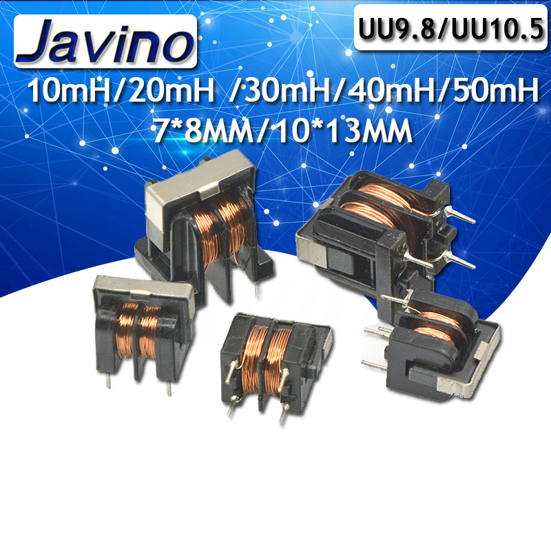 5Pcs/lot UU9.8 UF10.5 Common Mode Choke Inductor 10mH 20mH 30mH 40mH 50mH For Filter Pitch 7*8mm 10X13mm