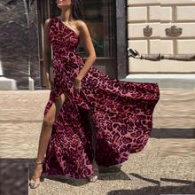 Leopard Print Off Shoulder Dresses Women Bohemian Long Dress For Female Ladies Casual Bow Tie Sexy Cold Club Party Dress cold shoulder gingham self tie dress