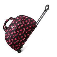 Bolsa de viaje Oxford impermeable para mujer, bolsa de lona con forma de cubo de embalaje, maletas portátiles y bolsas de viaje, organizador de equipaje de moda