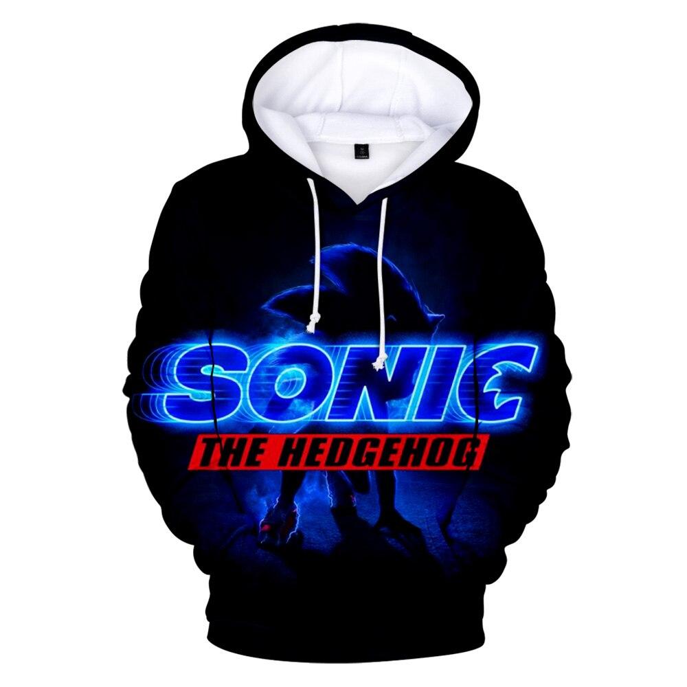 Drop Shipping 2019 New Fashion Hoodie Sonic Printed 3d Unisex Streetwear Sweatshirt/Hooded Jacket