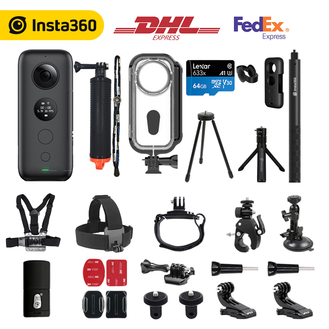 Insta360 ONE X 360 Action Camera , 5.7K Video and 18MP Photos, with Flowstate Stabilization, Real Time WiFi Transfer, Sports Cam