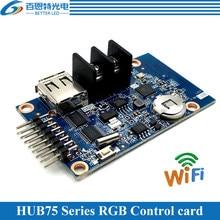 HD-WF1 assíncrono 640w * 32h 320*64 pixels 1 * hub75 rgb sete cores pequeno display led cartão de controle wi-fi