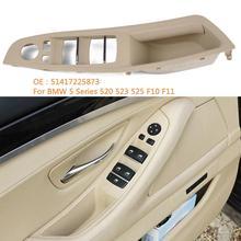 Car Door Handle trim Window Switch Panel for BMW 5 Series F10 F18 520 523 525 car-styling Master Control Trim