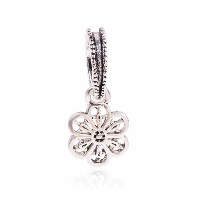 מכירה לוהטת כסף חרוזים פרח פיקסאר צעצוע סיפור קריסטל תליוני חרוז עבור 925 מקורי פנדורה סגולה צמידים & צמידי תכשיטים