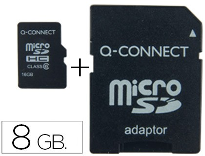 SD MEMORY MICRO Q-CONNECT FLASH 8 GB CLASS 4 WITH ADAPTER