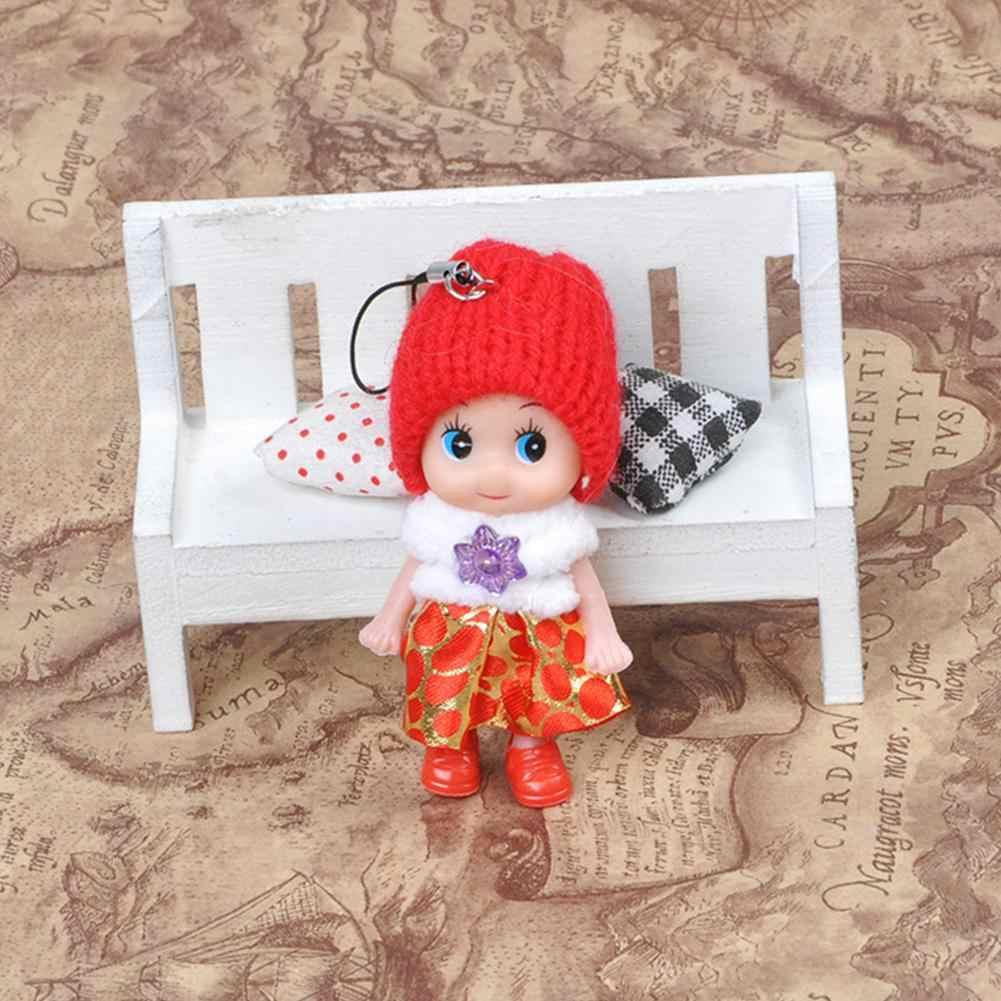 Surpresa Diamante Bonecas Bonitos Do Bebê Pingente de Bolsa Saco Chave Chaveiro Anel Cadeia Pingentes Boneca Presente Toy Pretend Toy Dolls