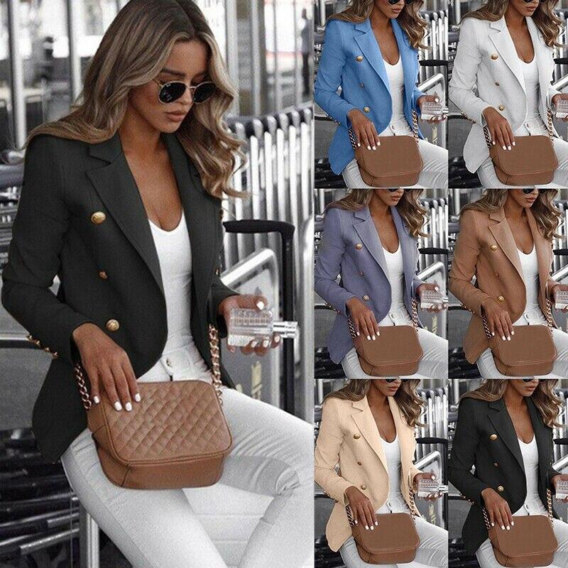Meihuida Autumn Casual Women's Long Sleeve Blazer Work Jacket Coat Outwear Top Suit Plus Size 4XL Outfits Clothes
