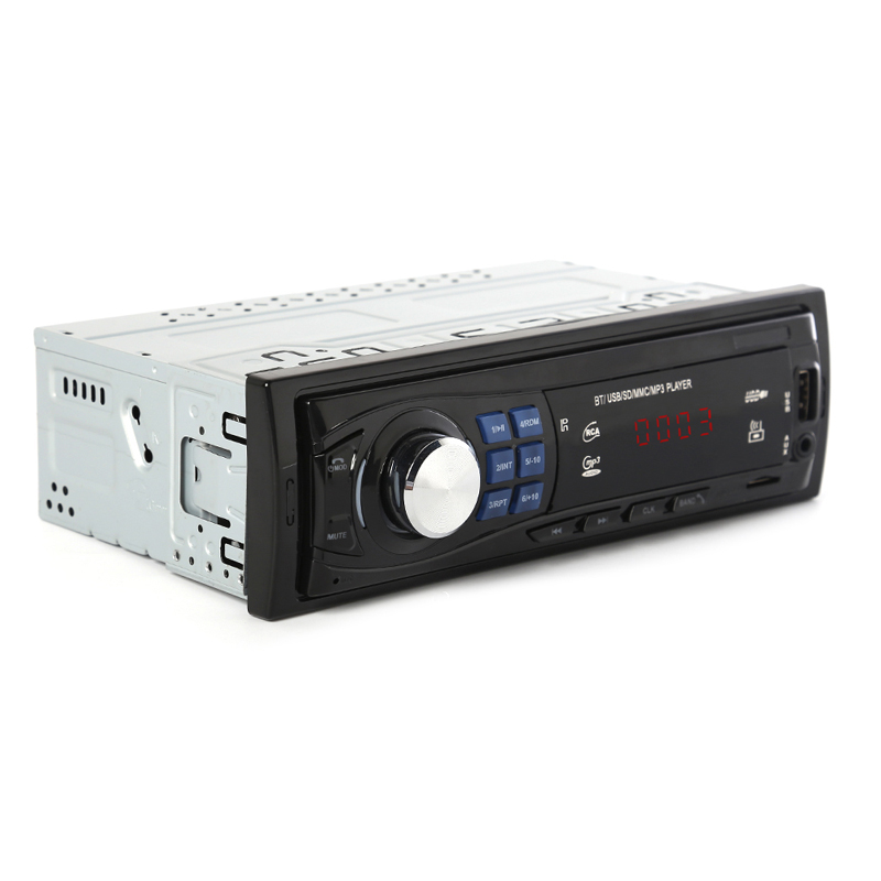 1Din Car Radio Bluetooth Autoradio Stereo MP3 Player With Remote Control DC 12V FM USB AUX Input Function Automotive In-dash