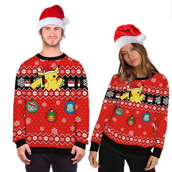 New Funny Ugly Christmas Sweater Unisex Men Women Holiday Vacation Party Pullover Sweaters Jumpers Tops Autumn Winter Clothing