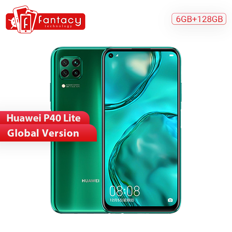 Global Version Huawei P40 Lite 6GB 128GB Smartphone 48MP AI Cameras 6.4'' FHD Screen Kirin 810 Octa Core 40W QC