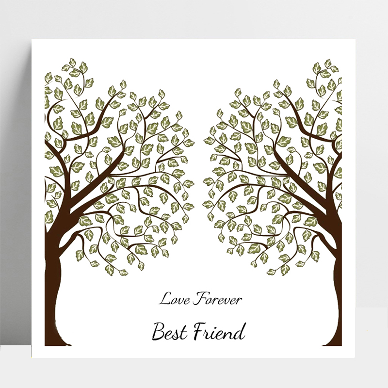 AZSG Love Forever Best Friend / Tree Clear Stamps For DIY Scrapbooking/Card Making/Album Decorative Silicone Stamp Crafts