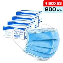 50/100/200pcs Disposable Mask 3-Layer Non-woven Breathable Face