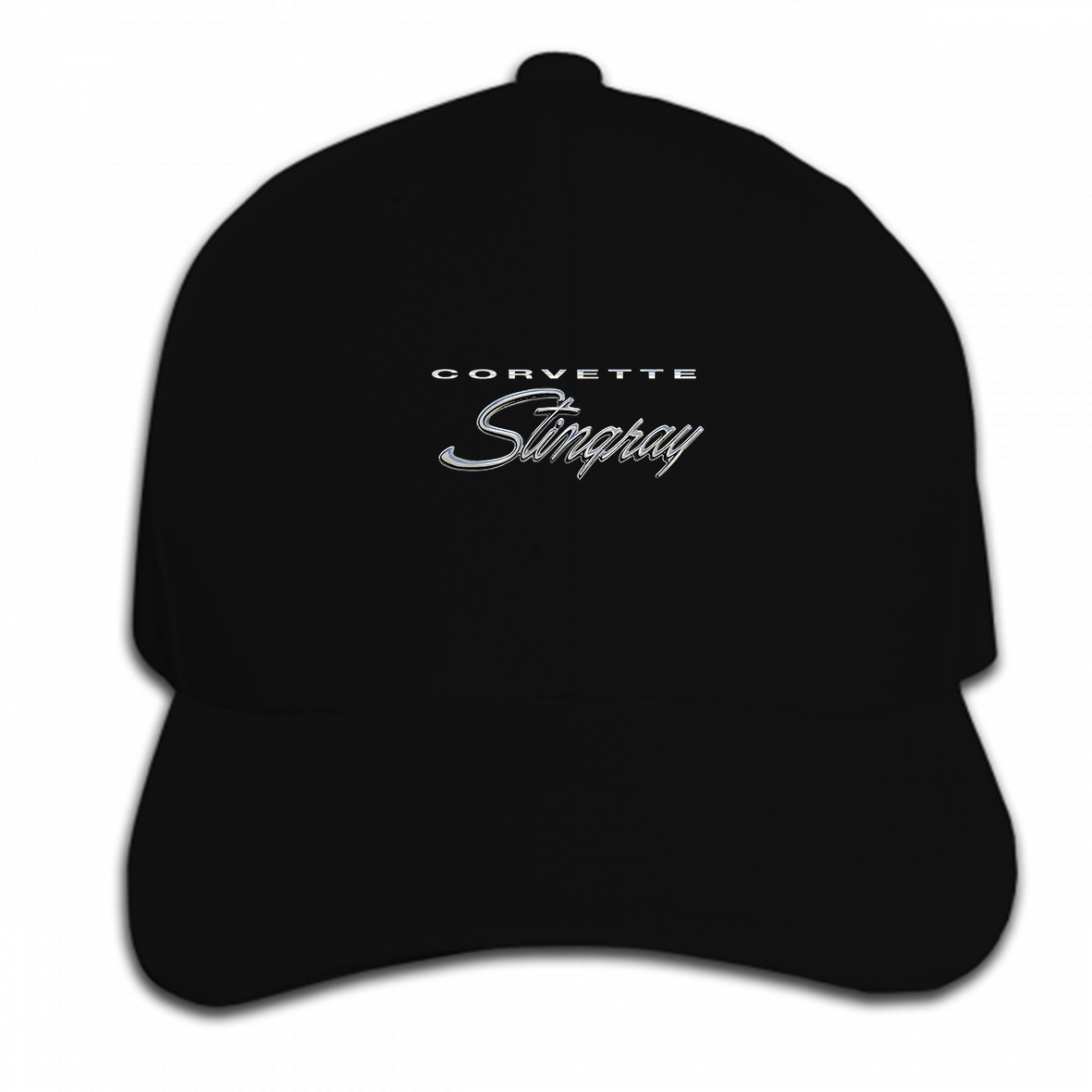 Print Custom Baseball Cap Chevy Corvette Stingray Mens ~ 1969 1972 ~ C3 3rd Gen ~ Gray Heather Hat Peaked Cap
