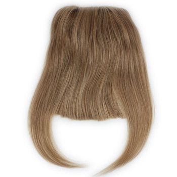 #27 Color Brazilian Human Hair Clip-in Hair Bang Full Fringe Short Straight Hair Extension for women 6-8inch elegant short layered siv hair fluffy straight full bang capless human hair wig for women