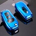 TPU Auto Auto Remote Key Fall Shell für Ford Focus Mondeo Foreus Everest S Max Mustang Auto Schlüssel Abdeckung kette Ring Auto Zubehör-in Schlüsseletui für Auto aus Kraftfahrzeuge und Motorräder bei