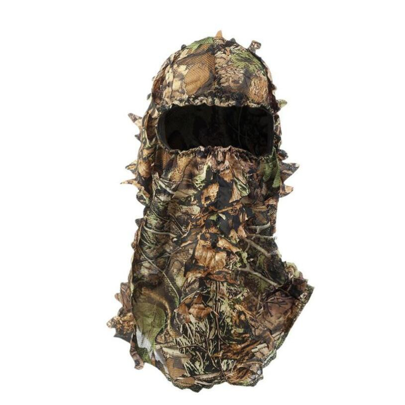 Camouflage Maple Leafy 3D Face Mask Suit Sniper Tactical CamouflageHood Hunting Fishing Headgear Camo Hat And gloves