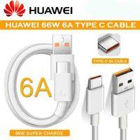 Original Huawei Nova 8 Se 66W Super Ladegerät 6A Aufzurüsten Typ C USB Kabel Für Nova 7 Mate 20 30 40 P30 P40 Pro Ehre 30 30S