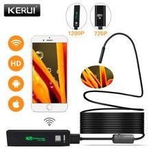 Kerui wifi endoscópio câmera mini impermeável cabo macio inspeção câmera 8mm 1m usb endoscópio ios endoscópio para iphone
