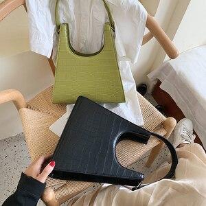 Image 2 - ワニのパターン女性のための 2020 の高級ハンドバッグ女性のバッグデザイナー pu レザーヴィンテージの女性のエレガントなトートバッグ