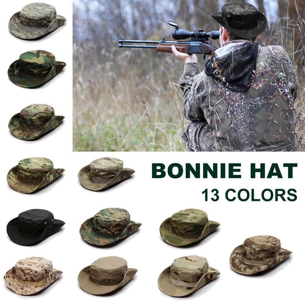 Camouflage Tactische Hoed Mannen Cap US Army Militaire Hoed Outdoor Vissen Wandelen Camo Jacht Hoed Zomer Schaduw Sport Cap