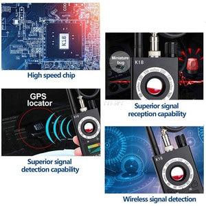 Image 3 - K18 scanner de sinal rf sem fio, detector de sinal escondido, câmera anti aderente, gps magnético, mini áudio gsm localizador