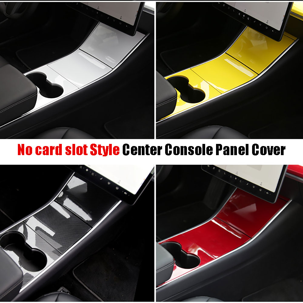 For Tesla Model 3 2017-2020 Car ABS Central Control Panel Protective Patch No Card Slot Style