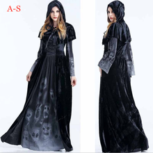 Halloween Cosplay Womens Black Demon Costume Christmas Witch Bloodsucking Uniforms Uniform Party