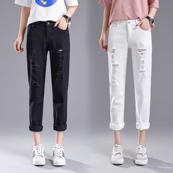 Ripped jeans for women Fashion denim jeans Women Slim fit jeans ladies skinny jeans vintage jeans jeans att jeans