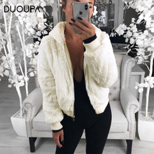 2019  autumn and winter explosions imitation fur womens fashion trend hooded plush bunny grass coat female